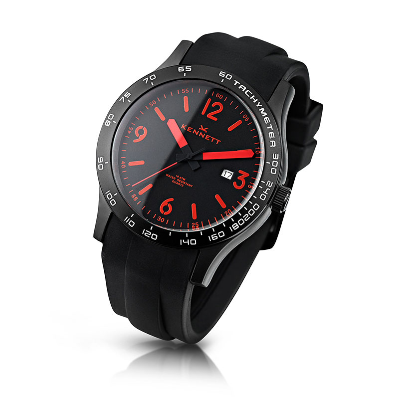 Kennett Watch Altitude Black Viper Red