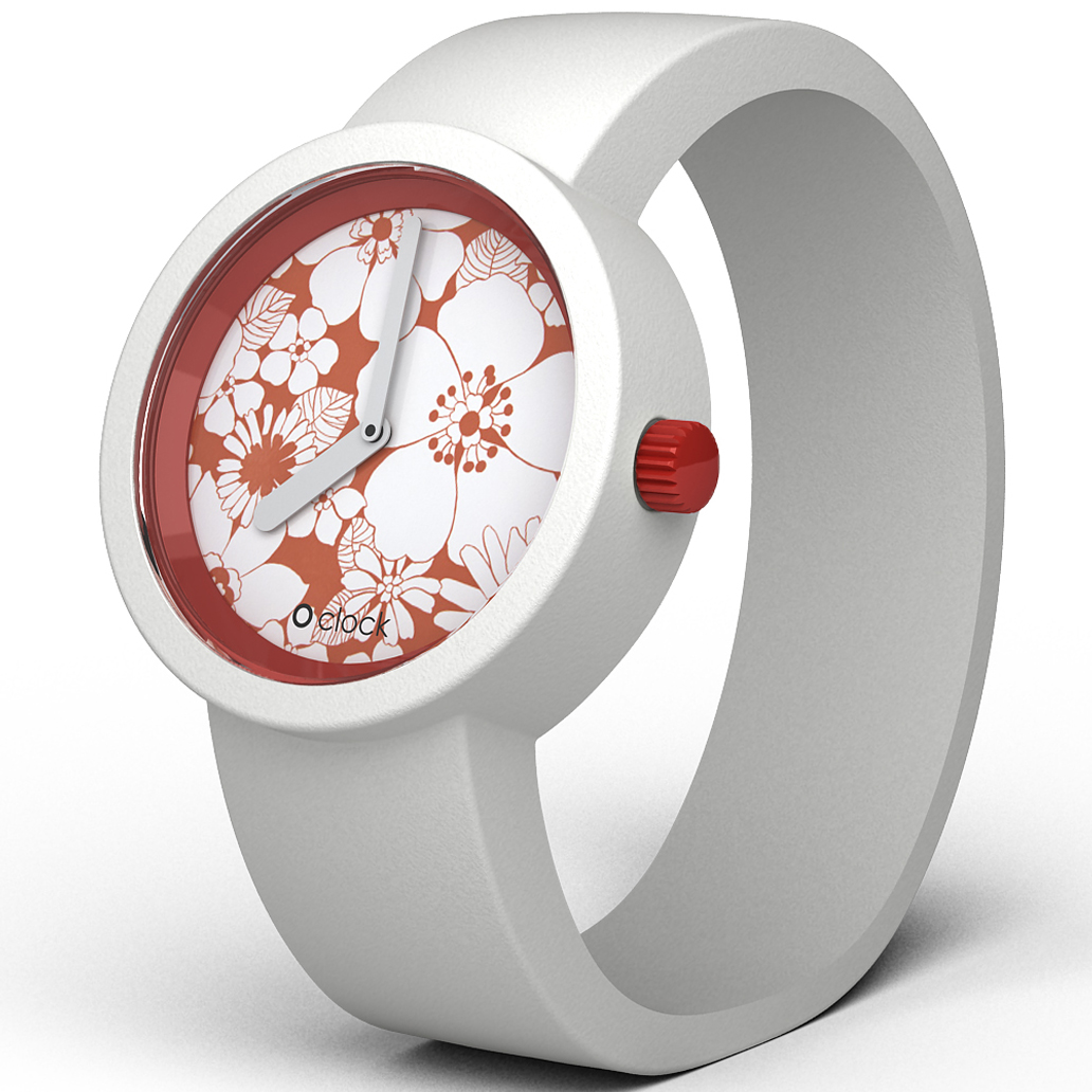 OCFP01 Oclock Flower Power Red Daisy Watch