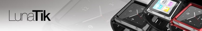 Red LunaTik Touch Screen Watches costing £50 to £75 GBP