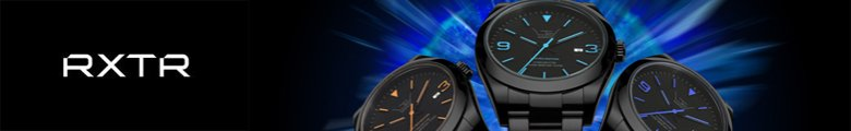 RXTR Watches Black Watches costing £100 to £200 GBP