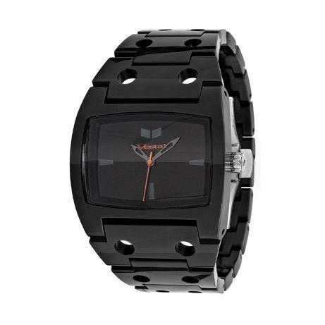 Vestal Watches Destroyer Plastic Black Watch DESP014 Strap: Plastic