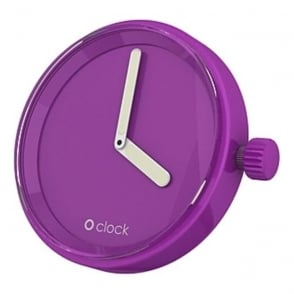 OClock Watches Tone on Tone Fuchsia Dial OCF16