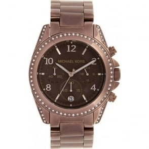 Michael Kors Watches Ladies Chronograph Brown Stainless steel Watch MK5493