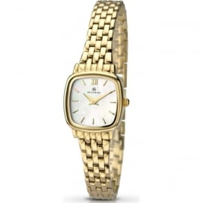 Accurist 8068 Gold Plated Stainless Steel Ladies Watch