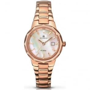 Accurist 8020 Rose Gold Plated Stainless Steel Ladies Watch