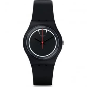Swatch GB294 Dra-Cool Black & Red Silicone Watch