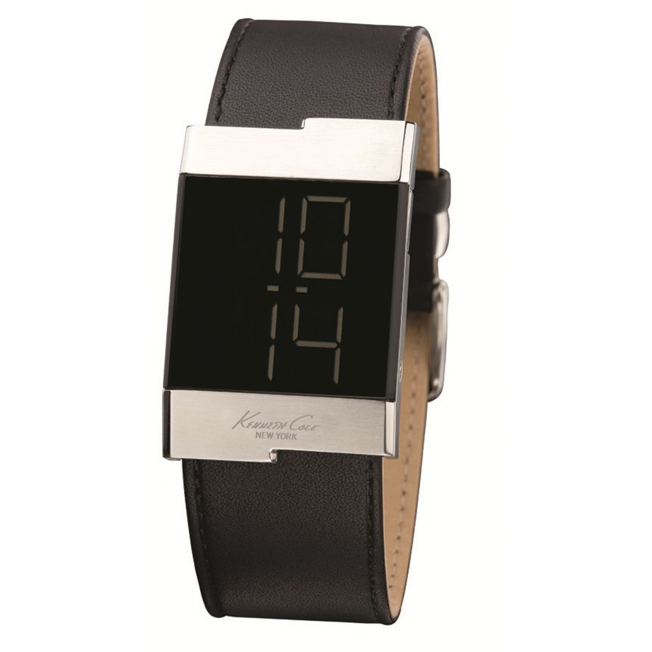 kenneth cole kc1296 mens black leather buy kenneth