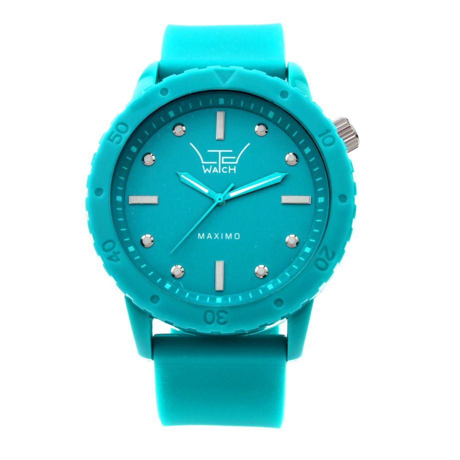 120801 Big Turquoise Watch Ltd Oversized Uk