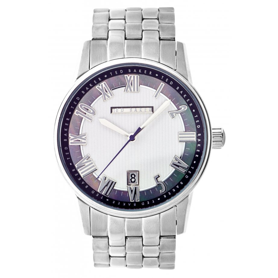 ted baker te3023 mens stainless silver analogue