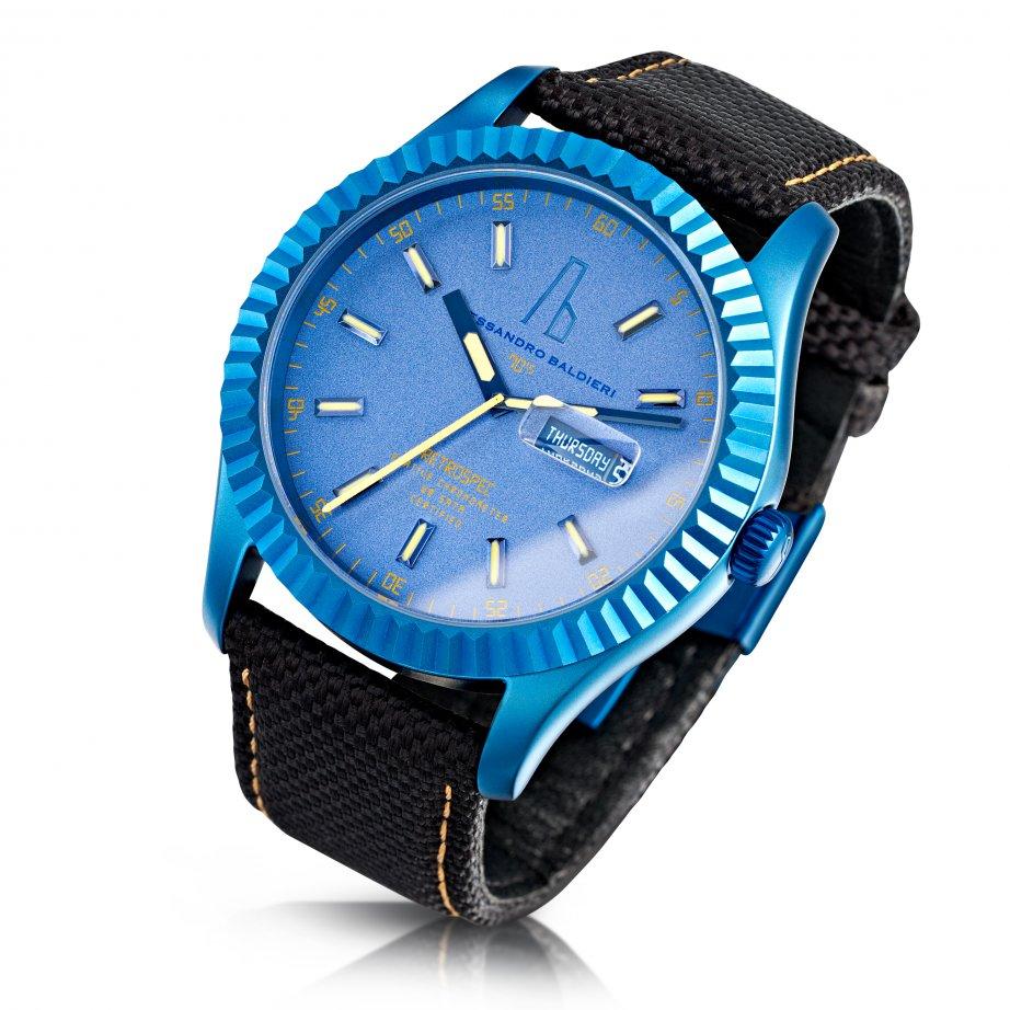 Alessandro Baldieri Watch Blue Petrol Retrospec Digital Watch Ab0051