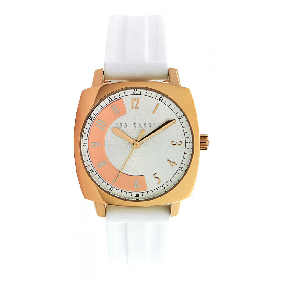ted baker watches te2069 s white silicon from