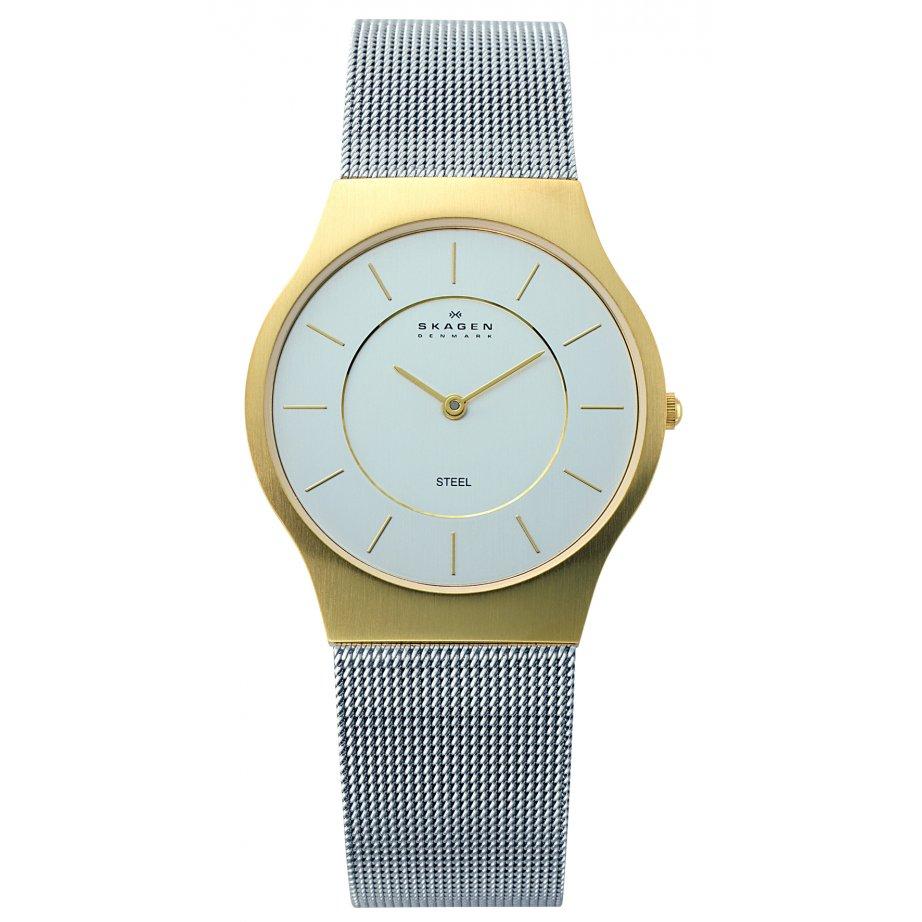 skagen watches 233lgs silver mesh gold mens buy