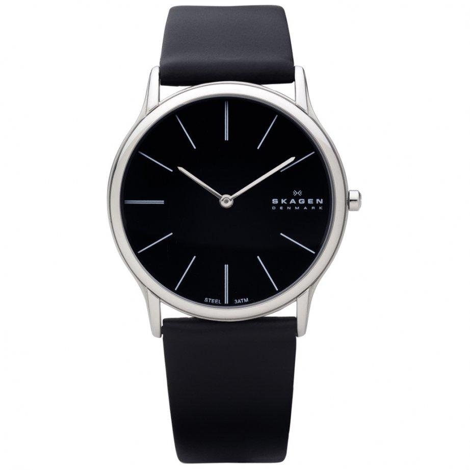 Mens Steel Leather Skagen Watch 858XLSLB Buy