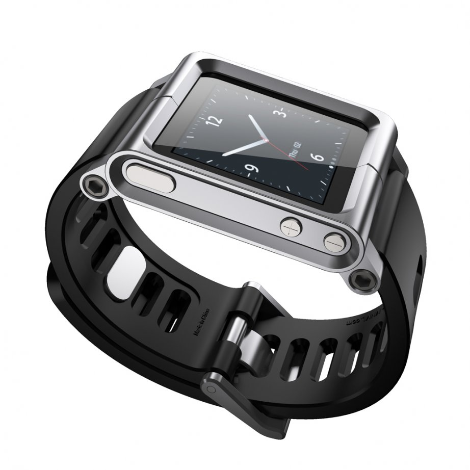 Silver LunaTik Watch Strap LTSLV-003 for your iPod Nano