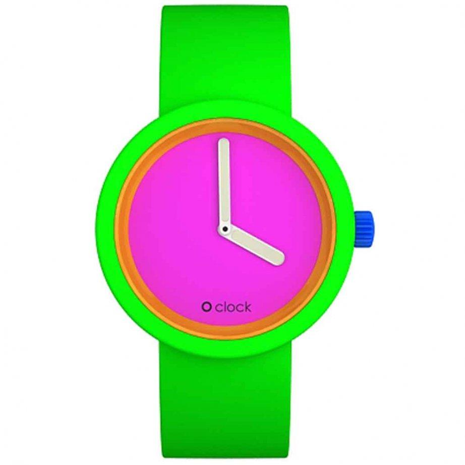 Watch 80 Fluorescent Green Buy O Clock Silicon OCFL03 M