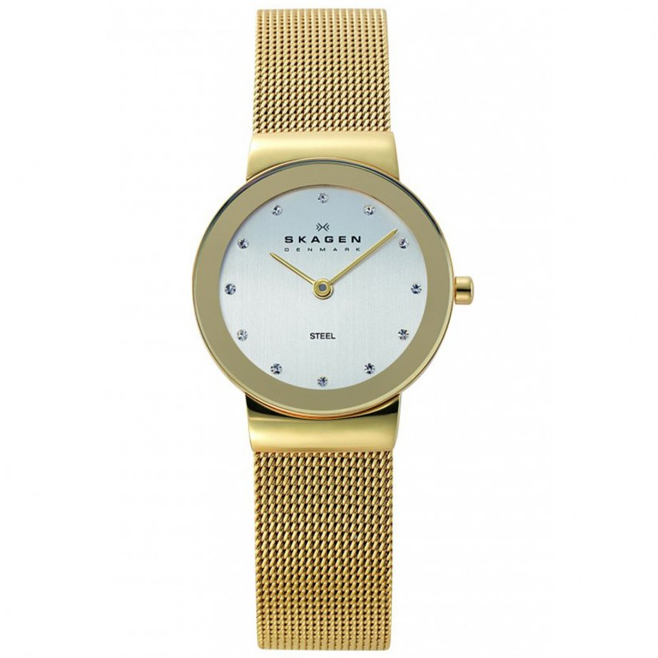 skagen watches 358sggd gold mesh womens buy skagen