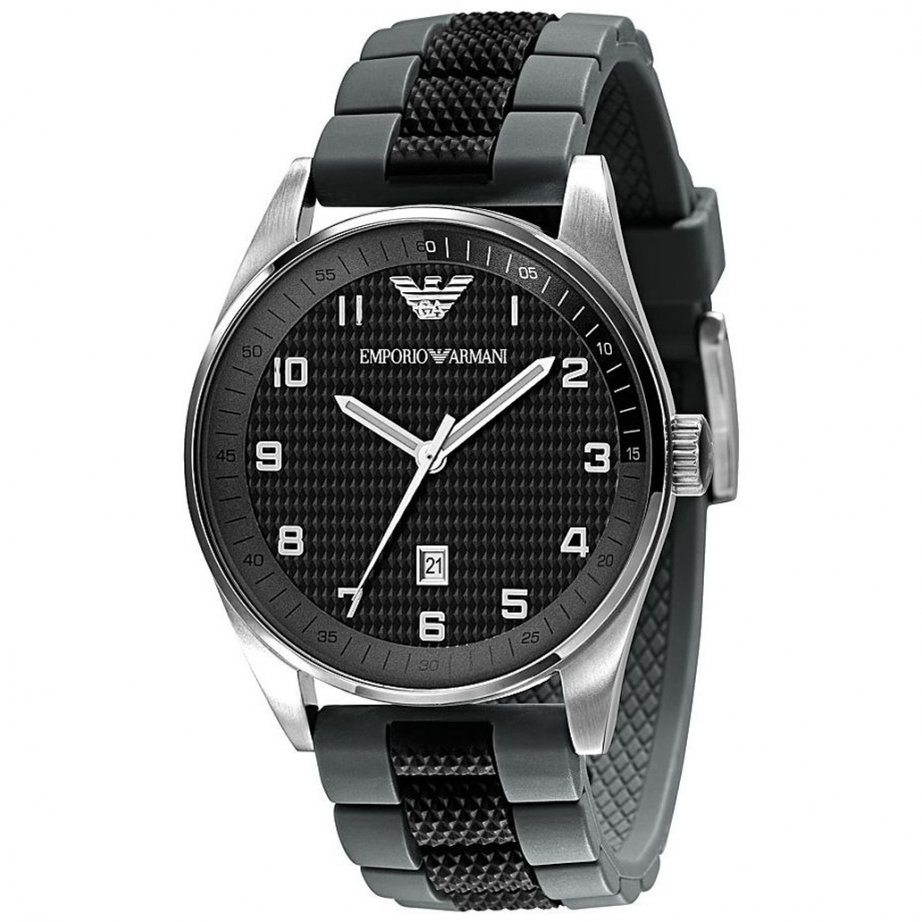 Armani Watches AR5875 Gents Black Silicon Watch