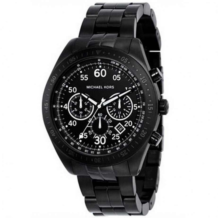 michael kors chronograph black mk8139 cheapest