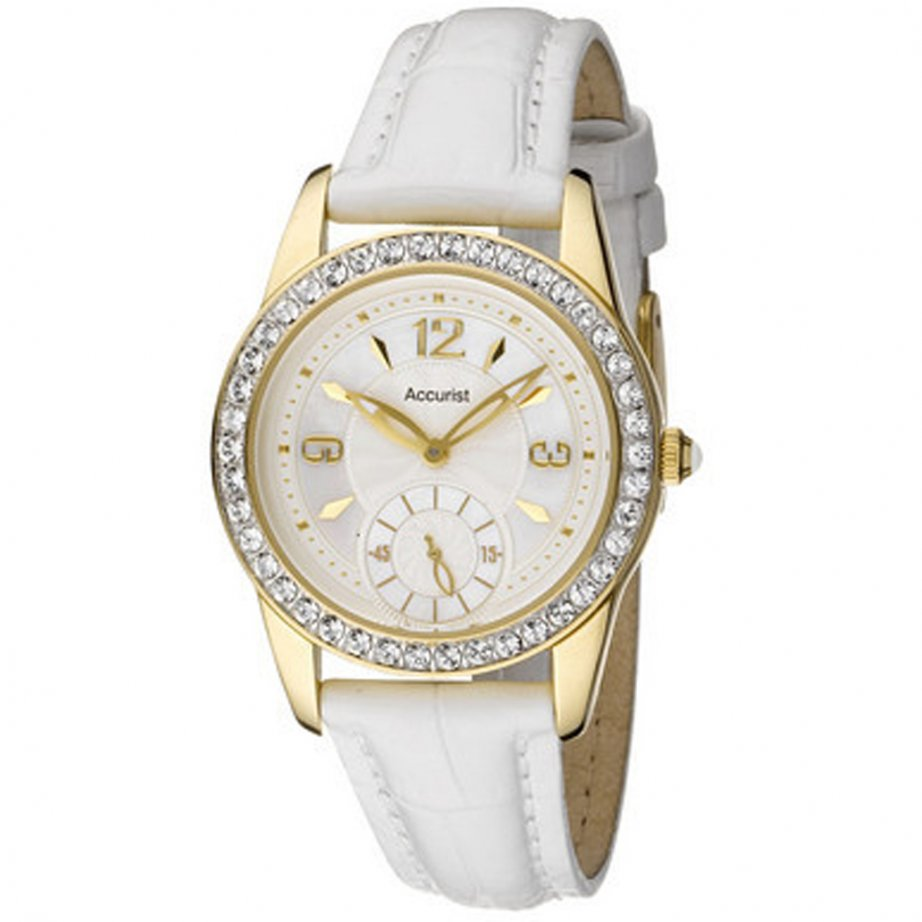 White Leather Watch NY8253 - Ladies Watches from British Watch Company