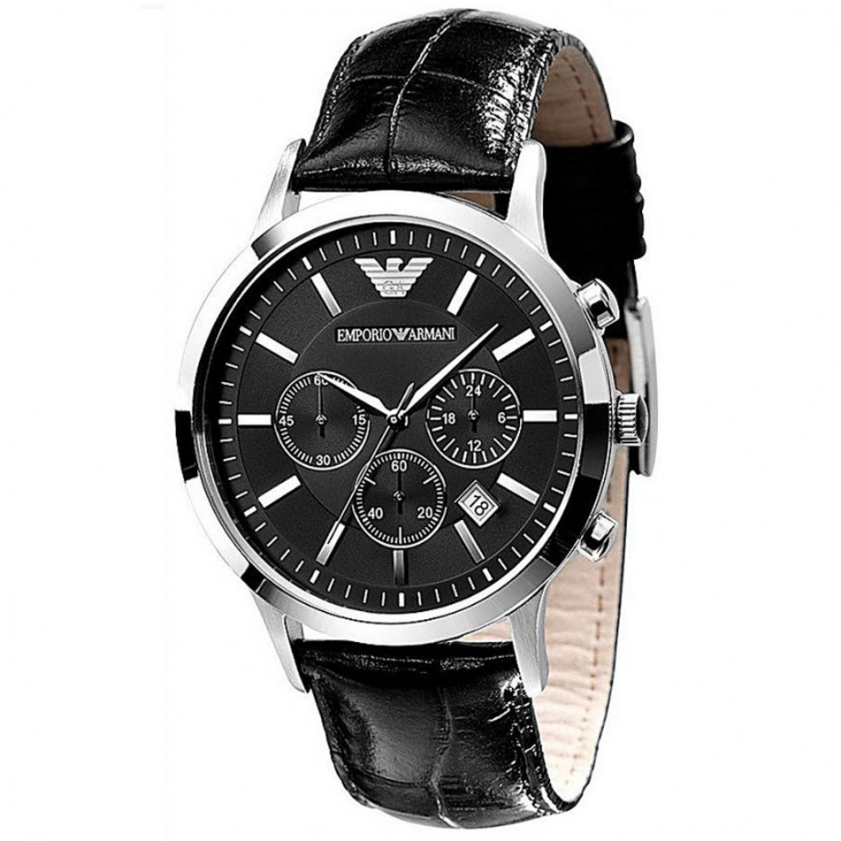 emporio armani black chronograph watch ar2447 uk. Black Bedroom Furniture Sets. Home Design Ideas