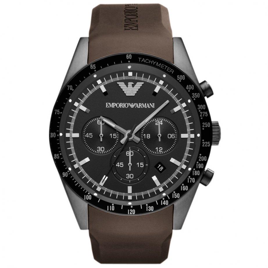 Emporio Armani AR5986 Mens Brown Chronograph Watch Cheapest UK