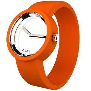 Oclock Mirrors Orange Silicone Watch OCM14