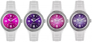 Ice-Pink and Ice-Purple Ice watches
