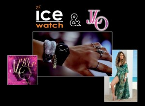 J-Lo feat Pitbull Live it Up White Ice Watch