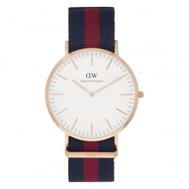 0101DW Classic 40 Nato Oxford Gents Blue and Red Nylon Watch