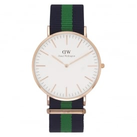 0105DW Classic 40 Nato Warwick Gents Blue and Green Nylon Watch