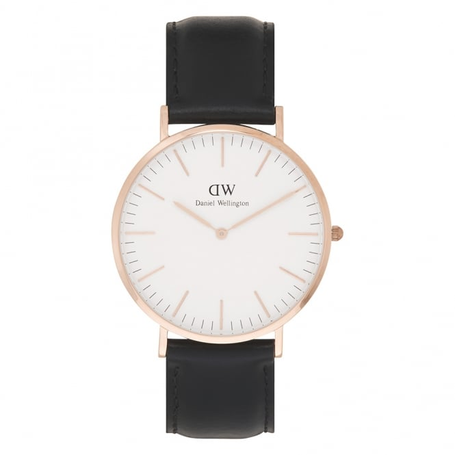 Daniel Wellington 0107DW Classic 40 Sheffield Gents Black Leather Watch