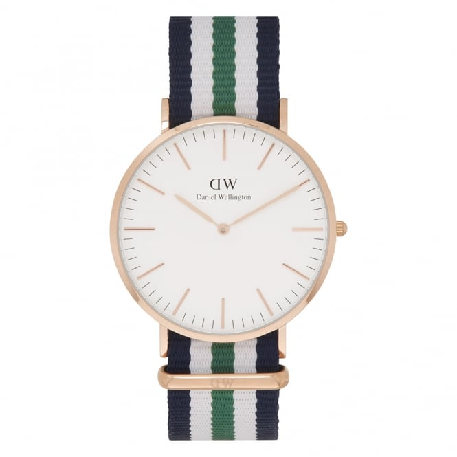 Daniel Wellington 0108DW Classic 40 Nato Nottingham Gents Nylon Watch