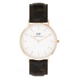 0111DW Classic 40 York Gents Brown Leather Watch
