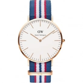 Daniel Wellington 0113DW Classic 40 Nato Belfast Gents Nylon Watch