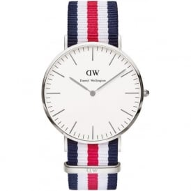 Daniel Wellington 0202DW Classic 40 Nato Canterbury Gents Nylon Watch