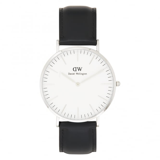 Daniel Wellington 0206DW Classic 40 Sheffield Gents Black Leather Watch