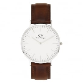 0207DW Classic 40 St Mawes Gents Brown Leather Watch