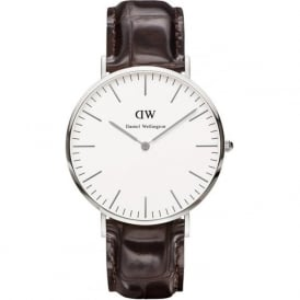 0211DW Classic 40 York Gents Brown Leather Watch