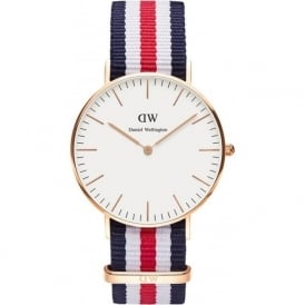 Daniel Wellington 0502DW Classic 36 Nato Canterbury Ladies Nylon Watch