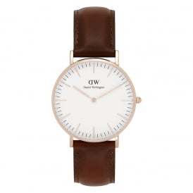 0507DW Classic 36 St Mawes Ladies Brown Leather Watch