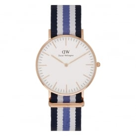 0509DW Classic 36 Nato Trinity Ladies Nylon Watch