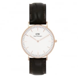 0510DW Classic 36 York Ladies Brown Leather Watch