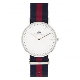 Daniel Wellington 0601DW Classic 36 Nato Oxford Ladies Blue and Red Nylon Watch