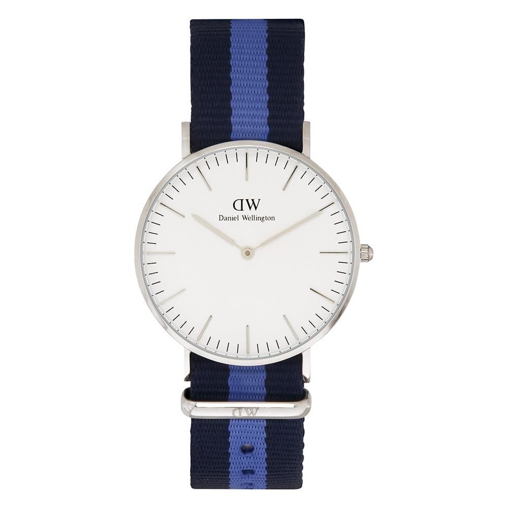 coloured watches buy coloured watches cheap coloured watches uk 0603dw classic 36 nato swansea ladies navy and blue nylon watch