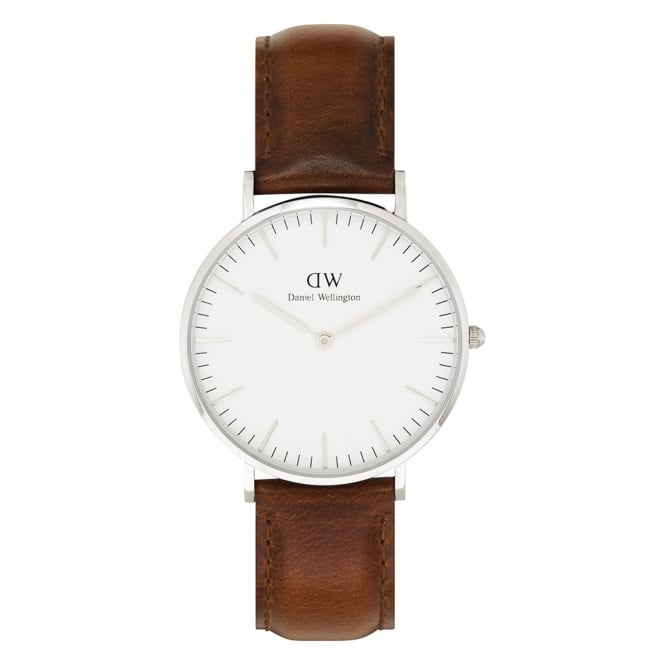 Daniel Wellington 0607DW Classic 36 St Mawes Ladies Brown Leather Watch