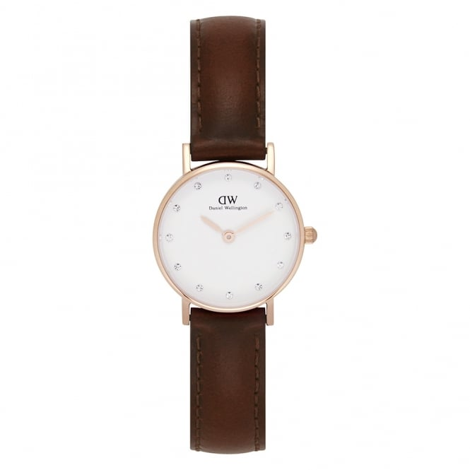 Daniel Wellington 0900DW Classy 26 St Mawes Ladies Brown Leather Watch
