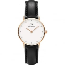 Daniel Wellington 0901DW Classy 26 Sheffield Ladies Black Leather Watch