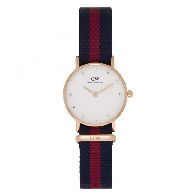 Daniel Wellington 0905DW Classy 26 Nato Oxford Ladies Blue & Red Nylon Watch