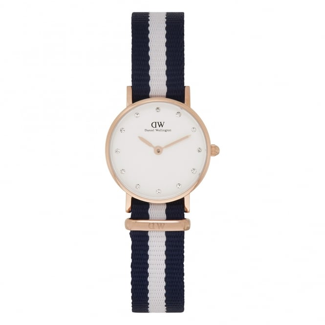 Daniel Wellington 0908DW Classy 26 Glasgow Ladies Rose Gold & Nylon Strap Watch