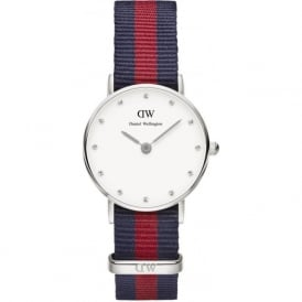 Daniel Wellington 0925DW Classy 26 Oxford Ladies Silver & Nylon Strap Watch